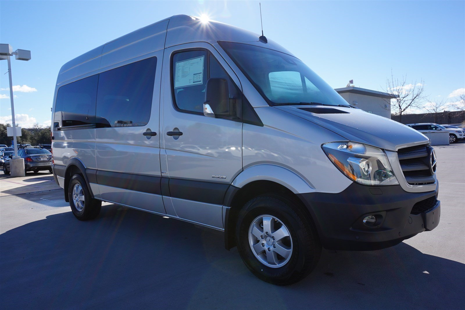 New 2016 mercedes benz sprinter passenger vans m2pv144 for Mercedes benz rocklin service