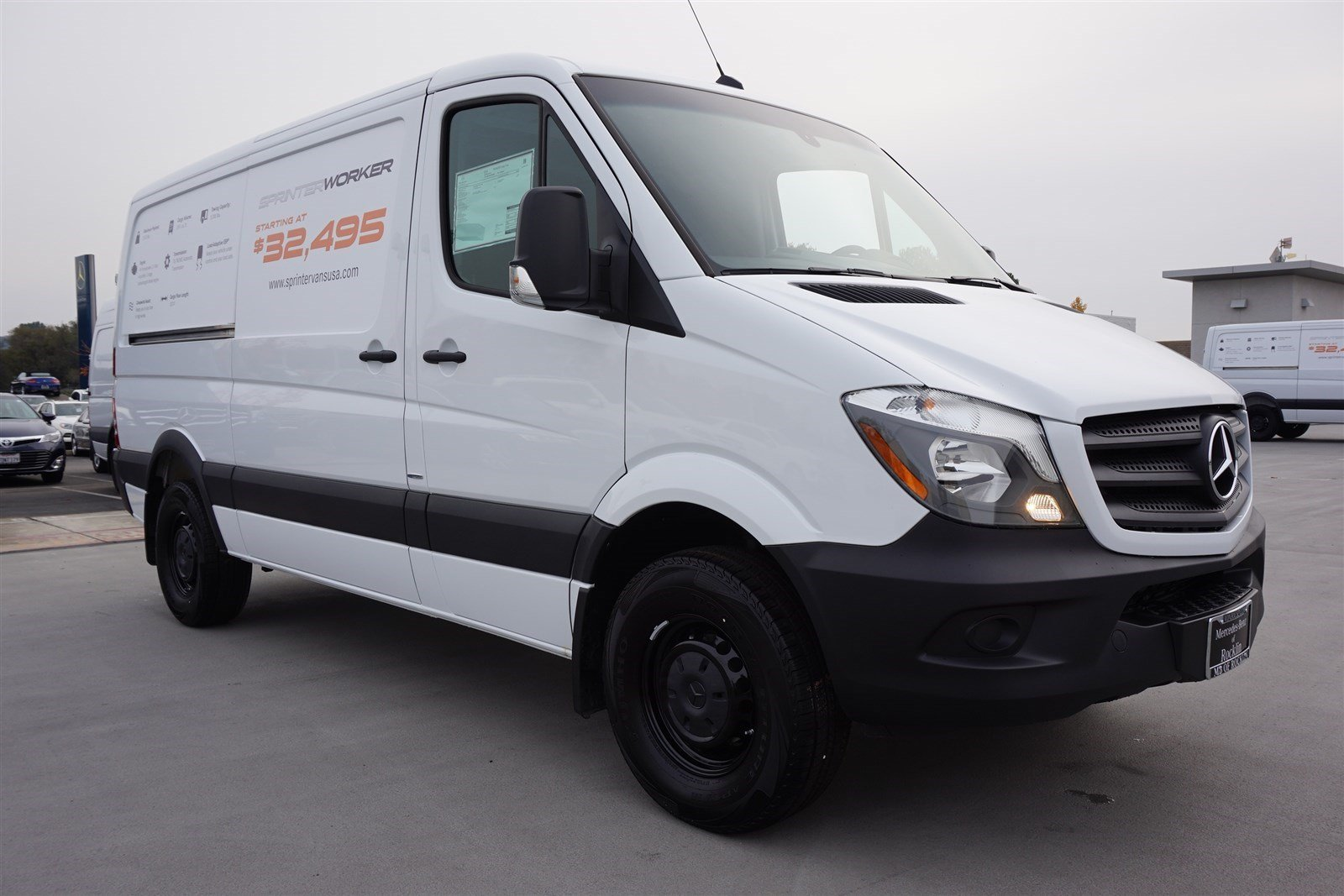 New 2016 mercedes benz sprinter cargo vans worker full for Mercedes benz van